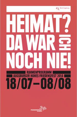 Programmheft zum Friedensfest 2014