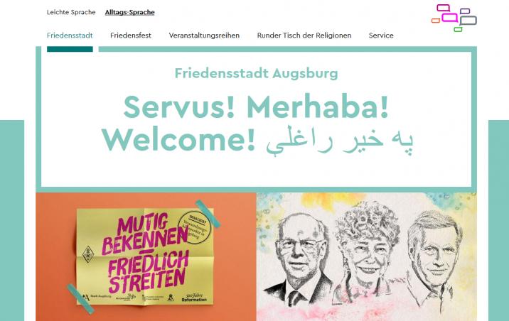 Startseite der neuen Internetseite