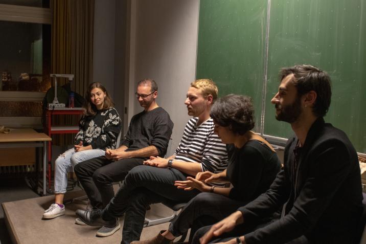 Im Gespräch: Luna Al-Mousli, Pierre Jarawan, Tanasgol Sabbagh, Danijel Szeredy - Moderation: Anton Limm/ Bluespotsproductions (Mitte)